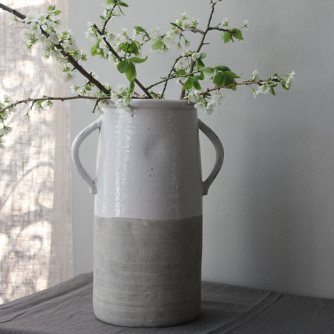 Aged Ceramic Stone Effect Vase - Two Styles - Greige - Home & Garden - Chiswick, London W4