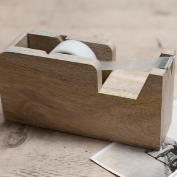 Traditional Wooden Tape Dispenser
