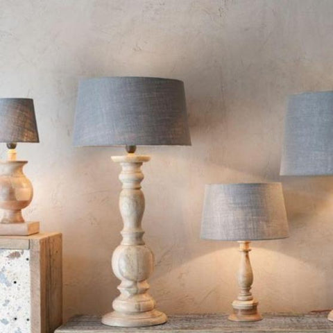 Jute Lampshade - Natural, Stone or Dark Grey - Four Sizes