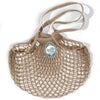 Filt French String Net Tote Market Bag Classic Long Handled Taupe