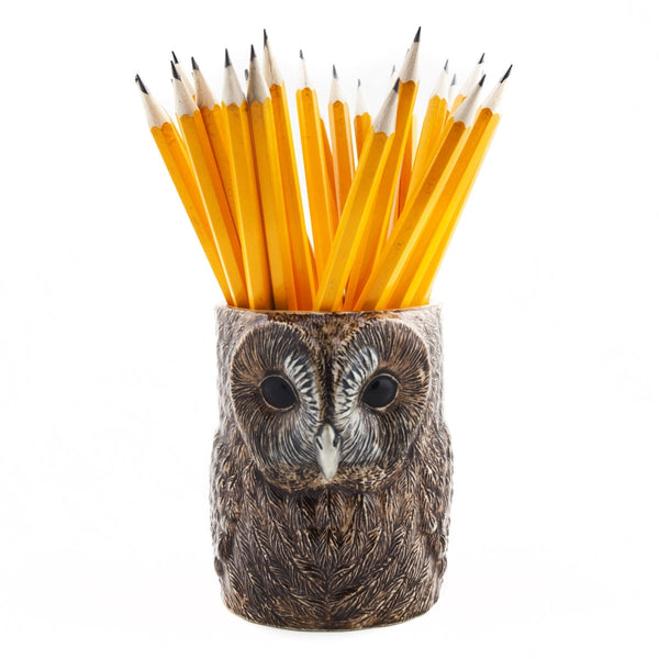 Quail Ceramics Tawny Owl Pencil Pot