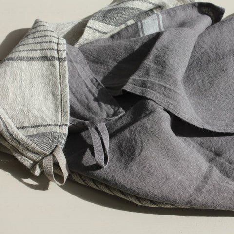 Stone Washed Linen Teatowels - Greige - Home & Garden - Chiswick, London W4