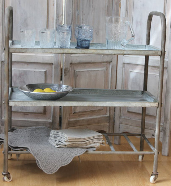 Distressed Metal Trolley - Greige - Home & Garden - Chiswick, London W4