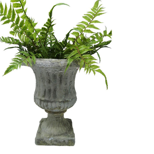 Small Aged Stone Effect Urn Planter - Greige - Home & Garden - Chiswick, London W4