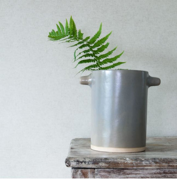 Ceramic Utensil Pot - Organic Shape - Mushroom Colour - Greige - Home & Garden - Chiswick, London W4