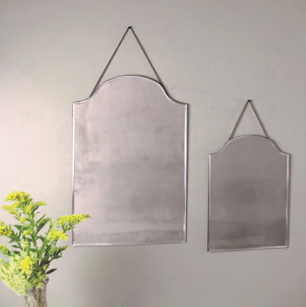 Classic Vintage Style Bevelled Edge Hanging Mirrors - Greige - Home & Garden - Chiswick, London W4