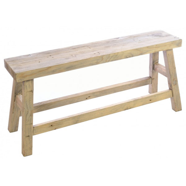 Rustic Wooden Bench - Greige - Home & Garden - Chiswick, London W4