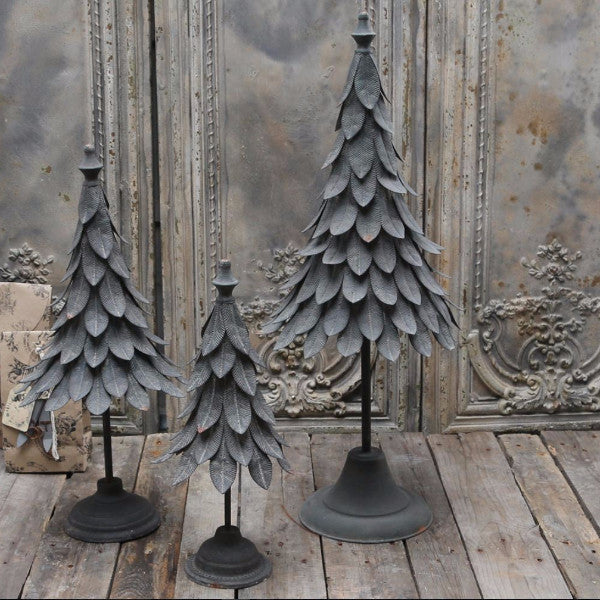 vintage french style christmas tree zinc metal