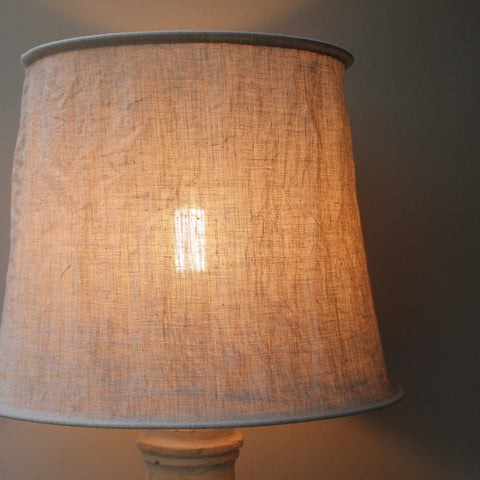 Natural Stone Washed Linen Crinkled Lampshade