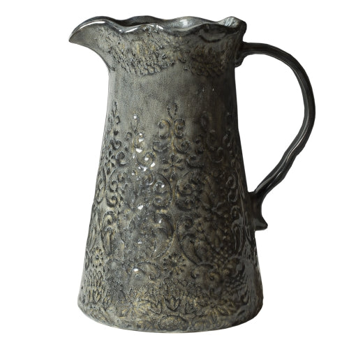 Frida Lace - Large Water Jug - Greige - Home & Garden - Chiswick, London W4