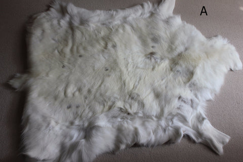 large white spotted reindeer hide