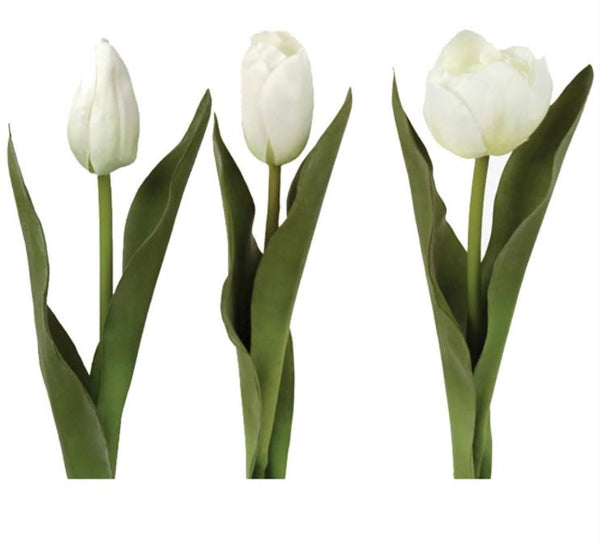 Faux White Tulip Mix - Set of Three - Greige - Home & Garden - Chiswick, London W4