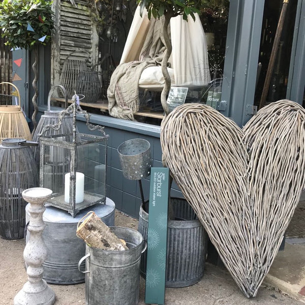 Extra Large Wicker Heart - Greige - Home & Garden - Chiswick, London W4