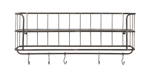 Metal Hat Rack with Hooks - Greige - Home & Garden - Chiswick, London W4