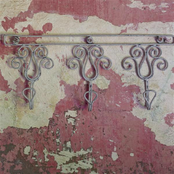 Rustic Wire Hooks - Row of Three - Greige - Home & Garden - Chiswick, London W4