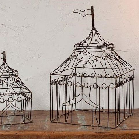 Decorative Wire Circus Tent - Two Sizes - Greige - Home & Garden - Chiswick, London W4