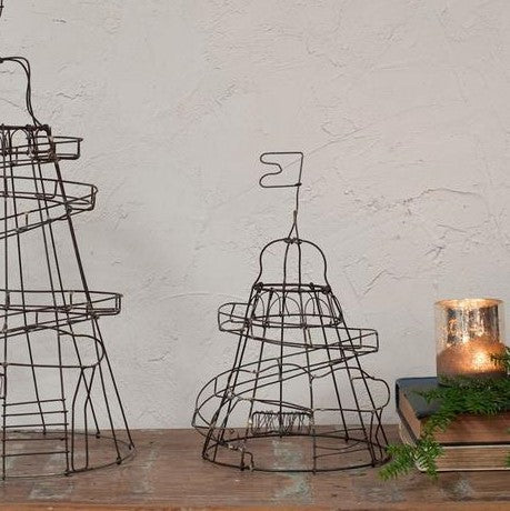 Decorative Wire Helter Skelter - Small - Greige - Home & Garden - Chiswick, London W4