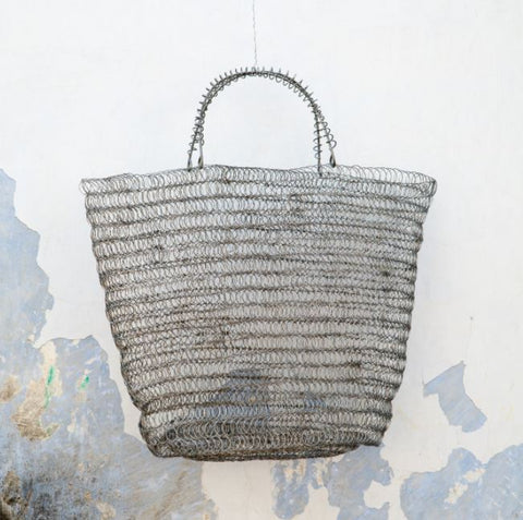 handmade wire shopper set of two
