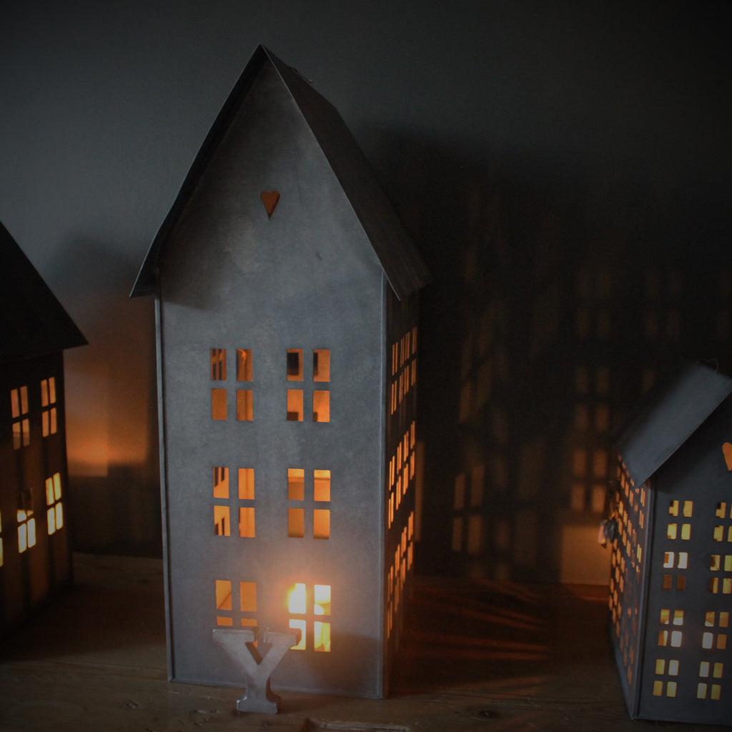 Danish tin houses for tealights from walther co for Online house