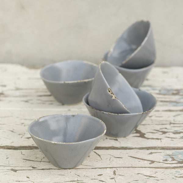 Aged Nibble Bowls - Greige - Home & Garden - Chiswick, London W4
