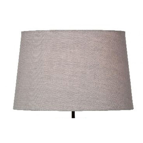 Basic Straight Side Linen Lampshade Natural 33cm diameter