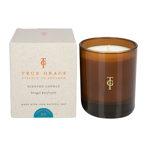 True Grace Scented Candle - Burlington - Cedar & Rose - Greige - Home & Garden - Chiswick, London W4
