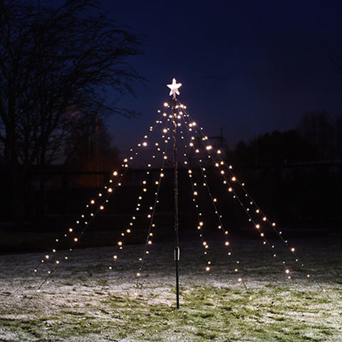 Outdoor String Christmas Tree