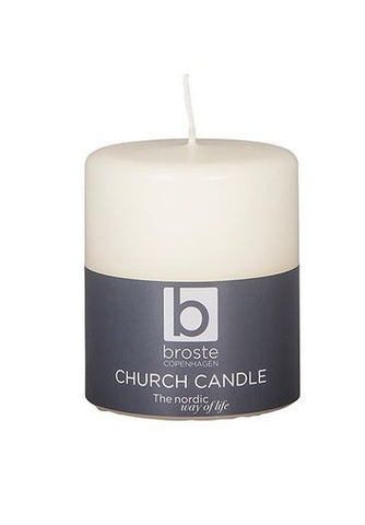 Classic Church Candle - Pure White - Greige - Home & Garden - Chiswick, London W4