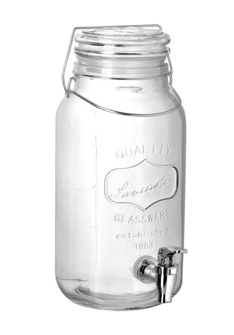 Glass Jar Drinks Dispenser with Tap