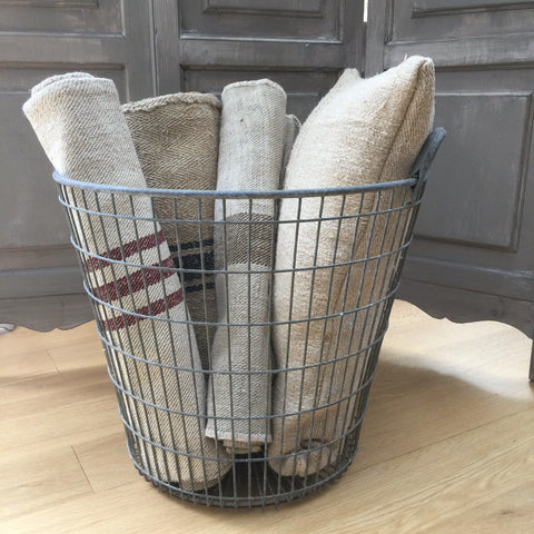 Vintage Metal Potato Basket - Greige - Home & Garden - Chiswick, London W4