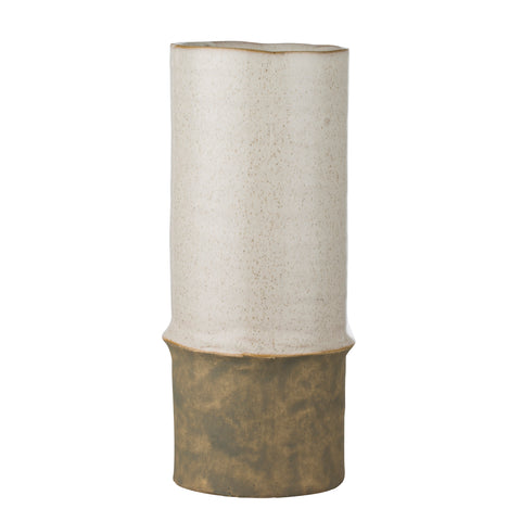Two Tone Ceramic Vase - Natural - Greige - Home & Garden - Chiswick, London W4