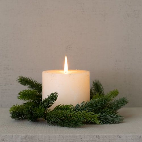 Small Faux Fir Candle Ring - Greige - Home & Garden - Chiswick, London W4