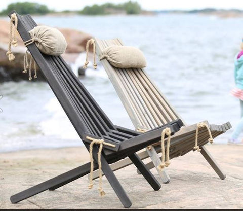 Eco-Friendly Nordic Design Deckchairs - Greige - Home & Garden - Chiswick, London W4