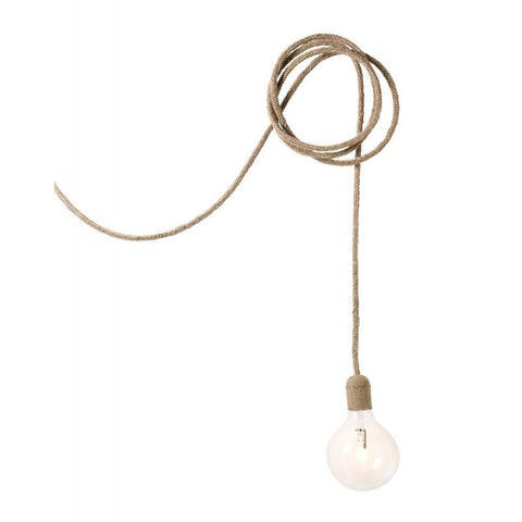 Jute Cable Lamp 3.5m