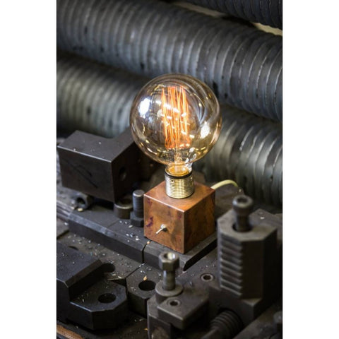 Little Copper Naked Bulb Lamp with Switch - Watt & Veke