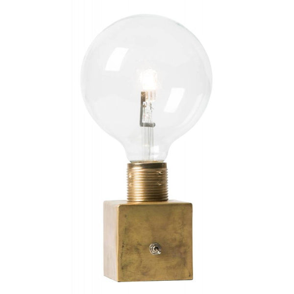 Little Brass Naked Bulb Lamp with Switch - Watt & Veke - Greige - Home & Garden - Chiswick, London W4