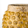 Ochre Crackle Glazed Dotty Flowerpot or Vase - Two Sizes