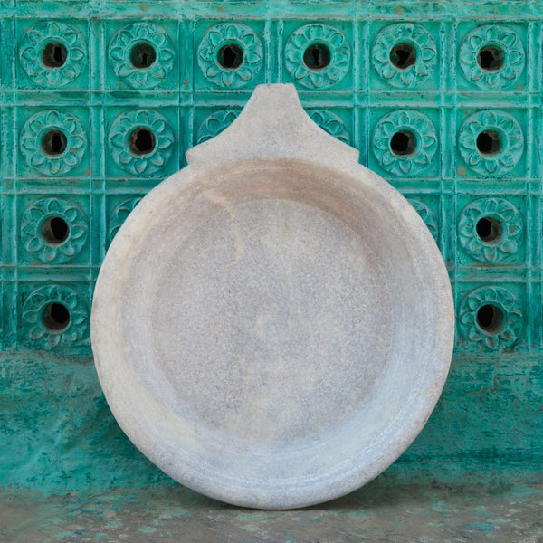 vintage marble chapati plate or bowl
