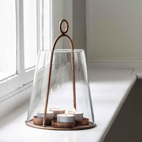 Conical Tealight Lantern - Greige - Home & Garden - Chiswick, London W4