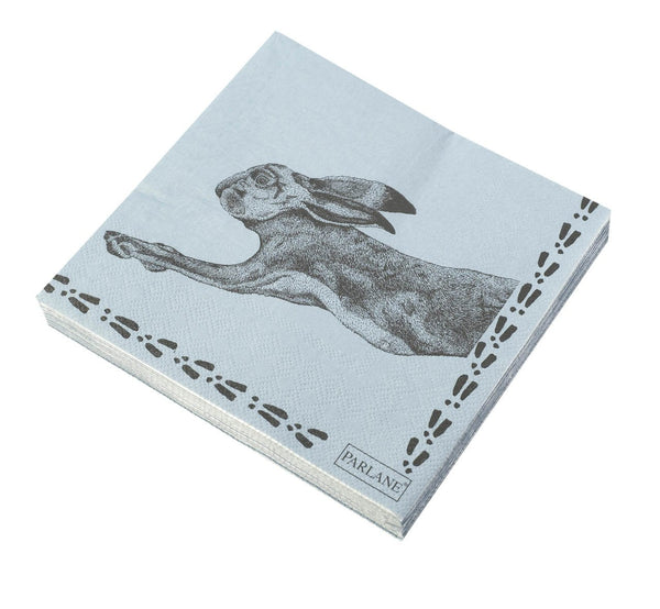 Prancing Hare Paper Napkins - Greige - Home & Garden - Chiswick, London W4