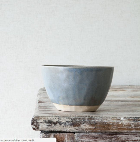 Ceramic Nibbles Bowl - Organic Shape - Mushroom Colour - Greige - Home & Garden - Chiswick, London W4