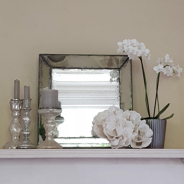 Small Square Venetian Antiqued Mirror - Greige - Home & Garden - Chiswick, London W4