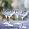 Vintage Style Champagne Saucers - Set of Two - Three Style Options