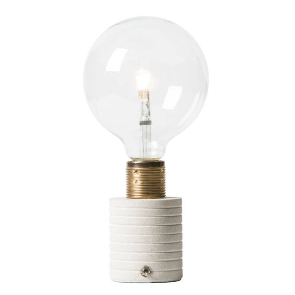 Little Sandstone Naked Bulb Lamp with Switch - Watt & Veke - Greige - Home & Garden - Chiswick, London W4