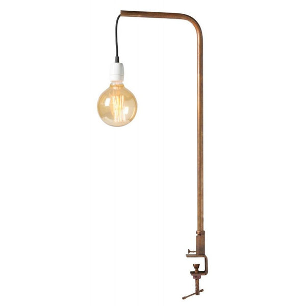 Copper Tube Clamp Design Table Lamp - from Watt & Veke - Greige - Home & Garden - Chiswick, London W4