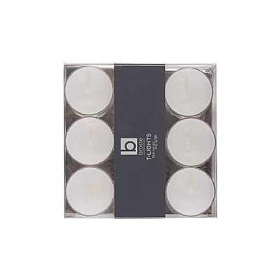 Broste Clear Cup Tealights - Ivory, Linen, Dove Grey, White or Christmas Red - Greige - Home & Garden - Chiswick, London W4