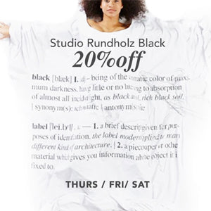20%OFF STUDIO RUNDHOLZ BLACK