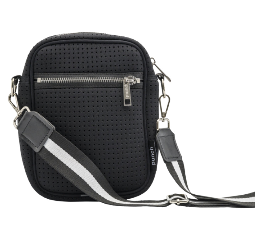 Punch neoprene cross body bag black