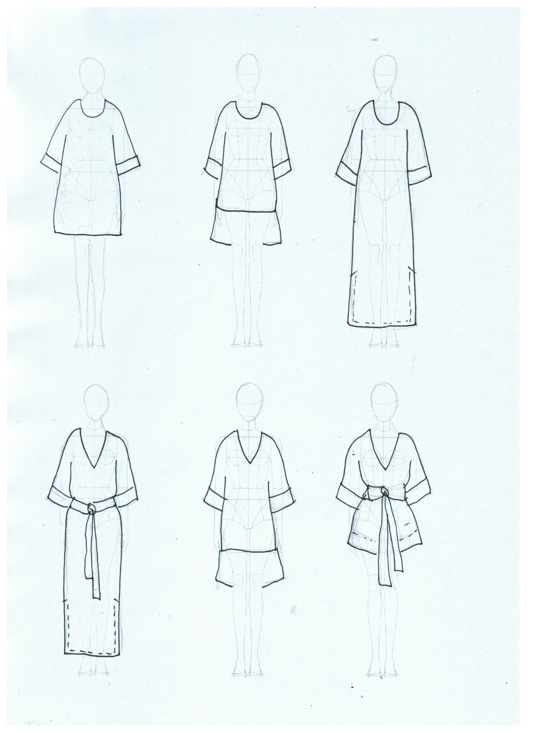 DIY KIT  KAFTAN + SHORT TOP