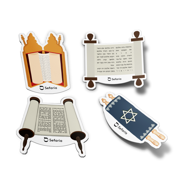 Torah Emoji Stickers 4-Pack